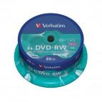 DVD Verbatim - DVD-RW - 4,7 Gb - 4x - Spindle - 43639 (conf.25)