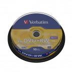 DVD Verbatim - DVD+RW - 4,7 Gb - 4x - Spindle - 43488 (conf.10)