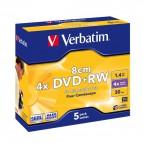DVD Verbatim - DVD+RW - 1,4 Gb - 2,4x - Mini DVD 8 cm - Slim case - 43565 (conf.5)
