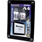 Display informativo a ventose - A4 - nero - Securit