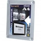 Display informativo a ventose - A4 - grigio - Securit