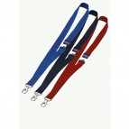 Cordoncini portabadge - larghezza 20 mm - blu - Durable - conf. 10 pezzi