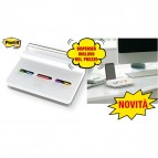 Dispenser Post-it® Index Slim - segnapagina Index Medium e Mini (inclusi) - bianco - Post-it