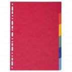 Separatore Forever - 6 tacche - cartoncino riciclato 220 gr - A4 - multicolore - Exacompta