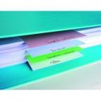Separatori orizzontali Forever - cartoncino riciclato 180 gr - 10,5x24 cm - colori assortiti - conf. 100 pezzi