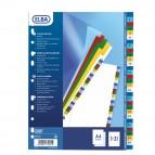 Separatore numerico 1/31 Elba - tacche colorate - PPL - A4 - colori assortiti - Favorit