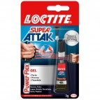 Colla Super Attak Power Flex - gel - 3 gr - trasparente - Loctite