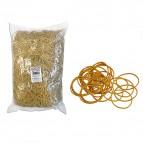 Elastici - gomma gialla - ø 5 cm - Markin - sacco da 1 kg