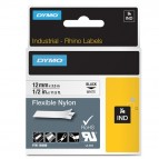 Nastro Rhino 1734524 - 24 mm x 3,5 mt - nylon flessibile - nero/bianco - Dymo