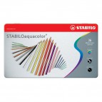 Matite colorate aquacolor® Stabilo - Scatola in metallo - 2,8 mm - da 6 anni - 1636-5 (conf.36)