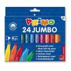 Pennarelli Jumbo - punta ø7,6mm - colori assortiti - Primo - astuccio 24 pezzi