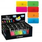 Gomma Riscrivi per gel cancellabile - colori assortiti - 6x3cm - Osama