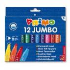 Pennarelli Jumbo - punta ø7,6mm - colori assortiti - Primo - astuccio 12 pezzi