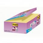 Blocco foglietti Post It Super Sticky giallo Canary - 47,6 x 47,6mm - 90 fogli - Post It - conf. 24 blocchi