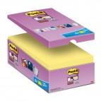 Blocco foglietti Post It Super Sticky giallo Canary - 76 x 127mm - 90 fogli - Post It - conf. 16 blocchi
