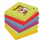 Blocco foglietti Post It Super Sticky - colore Marrakesh - 76 x 76 mm - 90 fogli - Post It