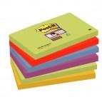 Blocco foglietti Post It Super Sticky - colore Marrakesh - 76 x 127 mm - 90 fogli - Post It