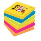 Blocco foglietti Post It Super Sticky - colore Rio de Janeiro - 76 x 76mm - 90 fogli - Post It