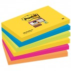 Blocco foglietti Post It Super Sticky - colore Rio de Janeiro - 76 x 127mm - 90 fogli - Post It