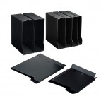 Custodia per raccoglitori 80 - 22x30 cm - dorso 11,5 cm - nero - Sei rota
