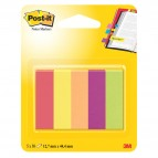 Segnapagina Post-it® in carta - 12,7x44 mm - 5 colori assortiti - Post-it - conf. 250 pezzi