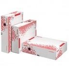Scatola archivio Speedbox - dorso 8 cm - 35x25 cm - bianco e rosso - Esselte