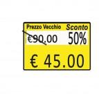 Rotolo da 600 etichette per Printex Z 17 - PREZZO VECCHIO…SCONTO… - 26x19 mm - adesivo permanente - giallo - Printex - pack 10 rotoli