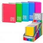 Mini quaderno One Color - 8x12cm - 1rigo - 80fg - 80gr - spiralato - copertina ppl - Blasetti
