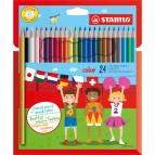 Pastelli colorati Stabilo Color - mina 2,5mm - Stabilo - Astuccio 24 colori