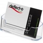 Portabiglietti da  visita da tavolo Deflecto - 1 scomparto - 9,6x3,5x5 cm - trasparente - 70101