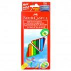 Matite colorate Eco  triangolari - mina 3mm - con temperino - Faber Castell - Astuccio 12 matite colorate