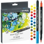 Pennarelli Aqua Brush Duo - una punta 2,0mm - una punta 4,0mm - Lyra