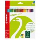 Pastelli colorati GreenColors - Ø mina 2,5mm - Stabilo - Astuccio 24 pastelli colorati