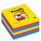 Blocco foglietti Post It Super Sticky - a righe - colori Rio - 101 x 101mm - 90 fogli - Post It