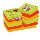 Blocco foglietti Post It Super Sticky - colore Marrakesh - 47,6 x 47,6 mm - 90 fogli - Post It