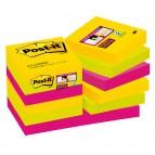 Blocco foglietti Post It Super Sticky - colore Rio de Janeiro - 47,6 x 47,6mm - 90 fogli - Post It