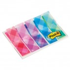 Segnapagina Post-it® Index Mini - motivi Scozzesi - 12x43,2 mm - Post-it - conf. 100 pezzi