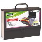 Valigetta portadocumenti - 25 tasche colorate - PPL - nero - Lebez