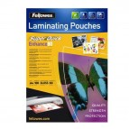 Pouches Enhance80 - Superquick - A4 - 2x80 micron - Fellowes - scatola 100 pezzi