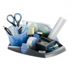 Desk organizer Ergologic - 26x14x15,5 cm - 13 scomparti - nero/blu - Maped