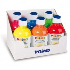 Tempera brillante fluorescente - 300ml - colori fluo assortiti - Primo - box 6 colori