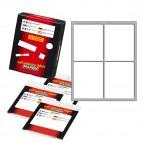 Etichetta adesiva - permanente - rettangolare - 70x56 mm - 4 etichette per foglio - 10 fogli per busta - bianco - Markin