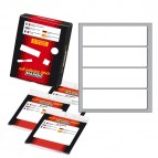 Etichetta adesiva - permanente - rettangolare - 110x34 mm - 4 etichette per foglio - 10 fogli per busta - bianco - Markin