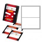Etichetta adesiva - permanente - rettangolare - 115x70 mm - 2 etichette per foglio - 10 fogli per busta - bianco - Markin