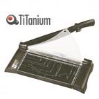 Taglierina a leva - A4 - 558x213x212 mm - 315 mm (A4) - capacità taglio 10 fg - con blocca lama - nero - Titanium