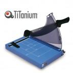 Taglierina a leva - A4 - 445x282 mm - 360 mm (A4) - capacità taglio 40 fg - con blocca lama - blu - Titanium