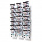 Espositori da parete in filo metallico Deflecto - A4 - 21 - 78x14x112 cm - 78945