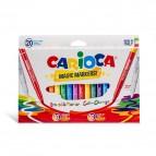 Pennarelli Magic Markers - punta 6,0mm - colori assortiti - Carioca - astuccio 20 pezzi