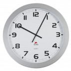 Orologio da parete Big-Big Clock Alba - grigio metallizzato - Ø 60 cm - HORGIANT