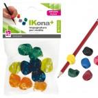 Impugnature per matite - gomma - colori assortiti - CWR - conf. 10 pezzi